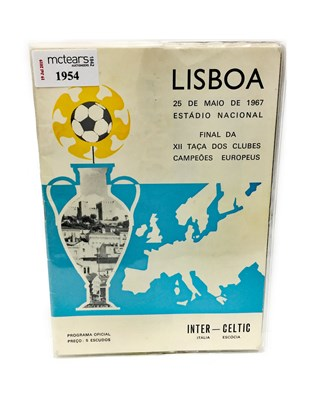 Lot 1954 - A CELTIC V INTER MILAN EUROPEAN CUP FINAL PROGRAMME 1967