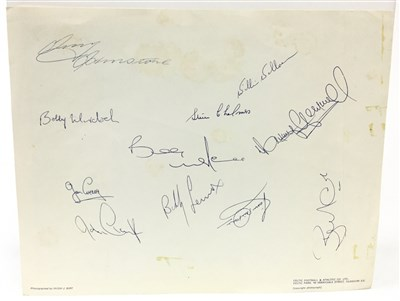 Lot 1924-A SIGNED CELTIC F.C. EUROPEAN CHAMPIONS 1967 TEAM PHOTOGRAPH
