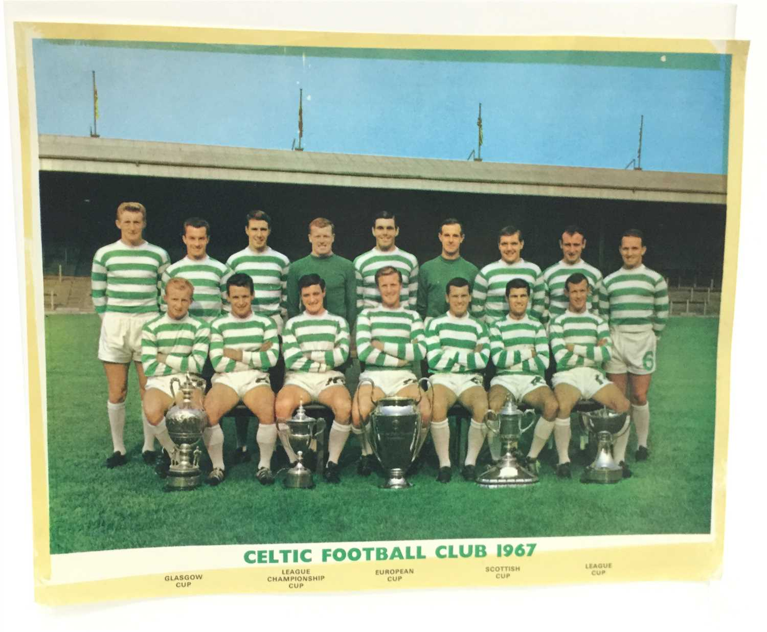Lot 1925-A SIGNED CELTIC F.C. EUROPEAN CHAMPIONS 1967 TEAM PHOTOGRAPH