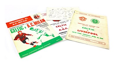 Lot 1967-A LOT OF CELTIC MATCHDAY PROGRAMMES