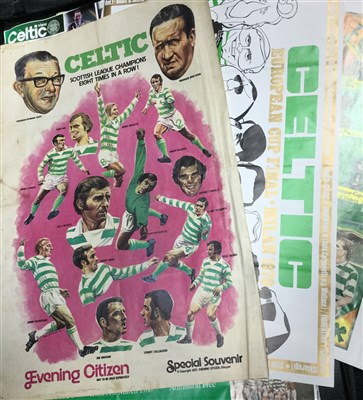 Lot 1969-A LOT OF CELTIC F.C. RELATED POSTERS