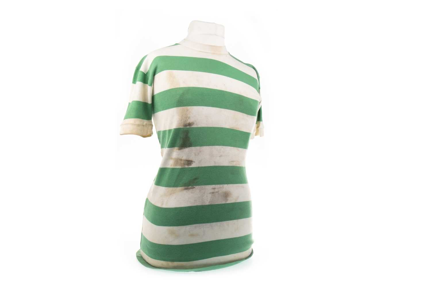 Lot 1977-JIMMY JOHNSTONE OF CELTIC F.C. - HIS JERSEY FROM 'THE BATTLE OF MONTEVIDEO'
