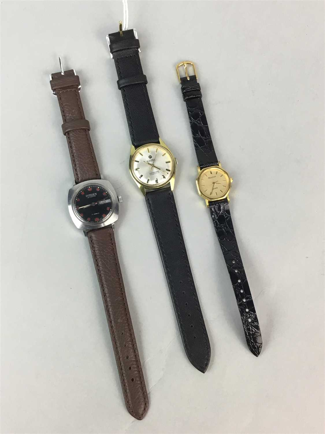 Lot 8-A LOT OF THREE WRIST WATCHES