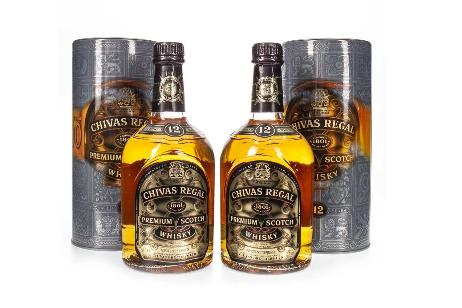 Lot 414-TWO BOTTLES OF CHIVAS REGAL 12 YEARS OLD