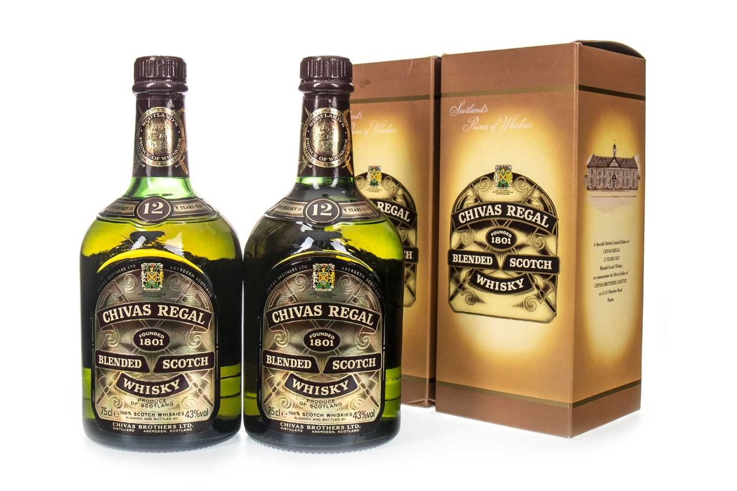 Lot 417-TWO BOTTLES OF CHIVAS REGAL SILVER JUBILEE AGED 12 YEARS