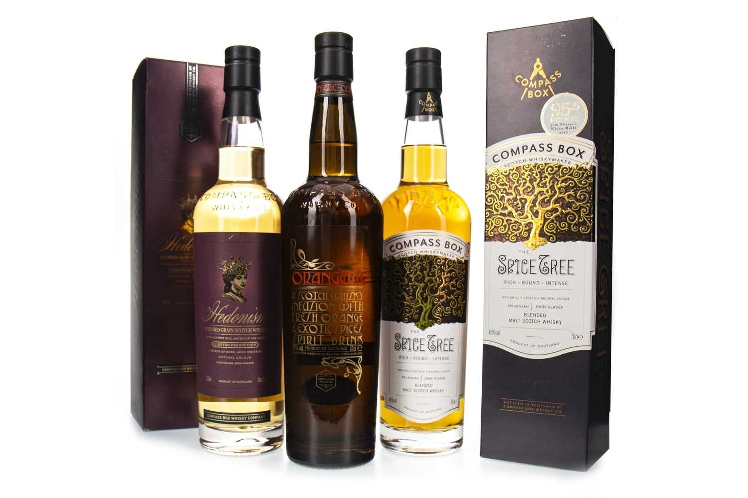 Lot 420-THREE COMPASS BOX  BOTTLINGS
