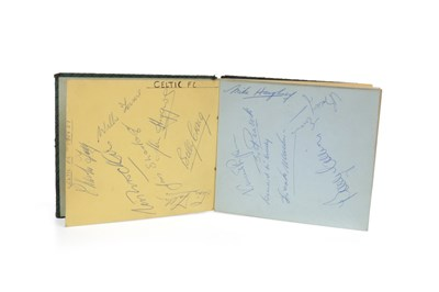 Lot 1926-AN AUTOGRAPH ALBUM WITH FOOTBALLERS AUTOGRAPHS INCLUDING CELTIC F.C.
