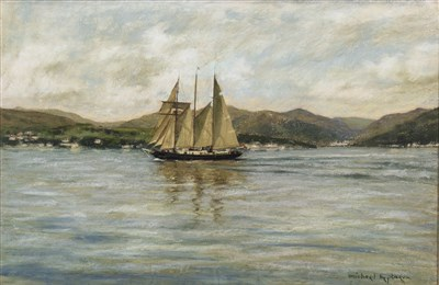 Lot 429-FORE-AND-AFT SCHOONER, BY MICHAEL HEPBURN