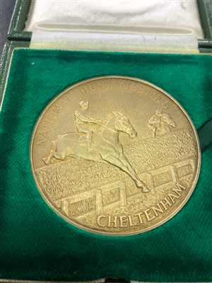 Lot 1822-SEA PIGEON - HIS CHAMPION HURDLE TROPHY AND MEDAL 1980