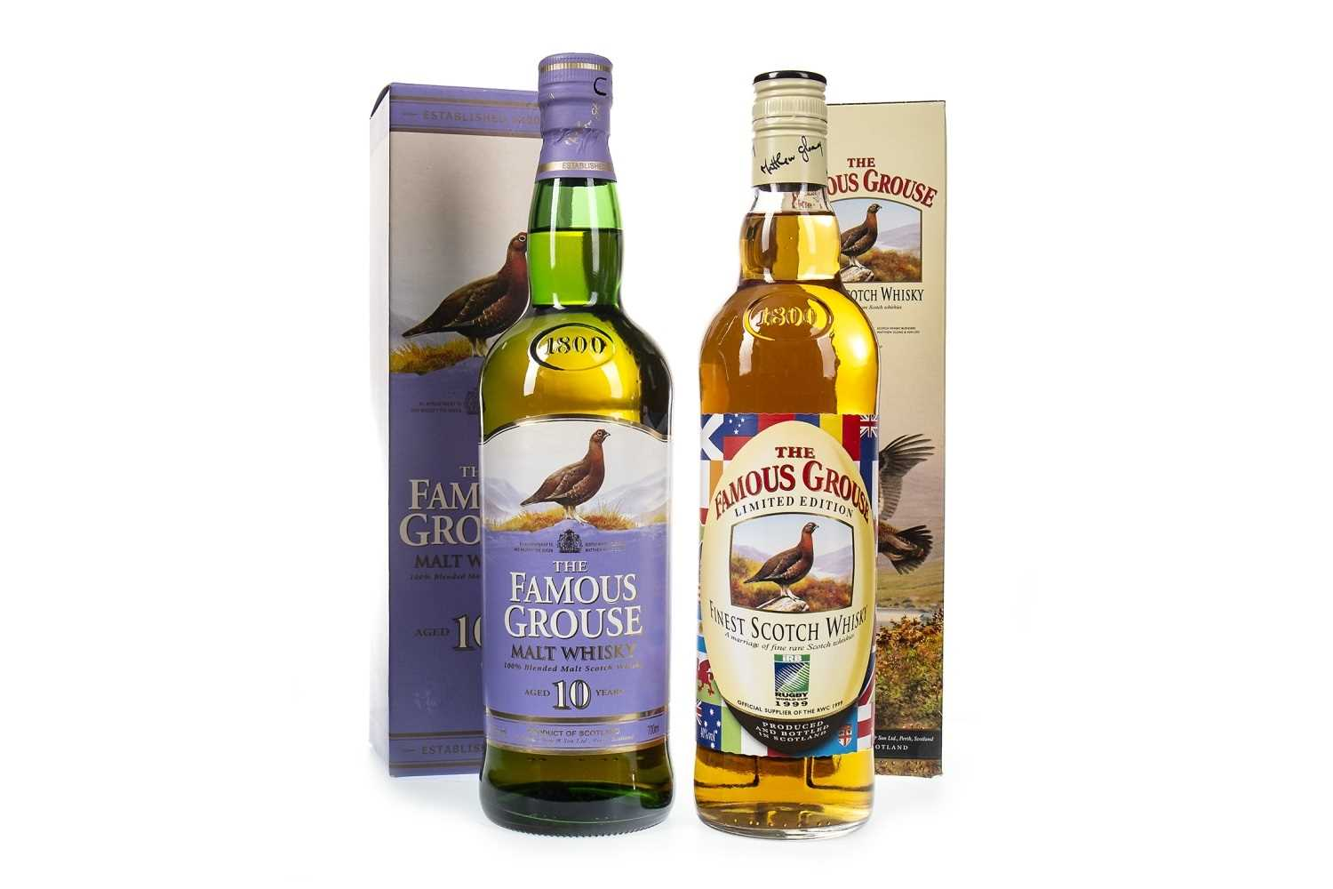 Lot 425-FAMOUS GROUSE MALT AGED 10 YEARS AND FAMOUS GROUSE