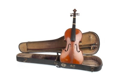 Lot 1450-A 19TH CENTURY VIOLIN WITH TWO BOWS