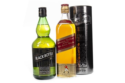 Lot 429-JOHNNIE WALKER RED LABEL AND BLACK BOTTLE