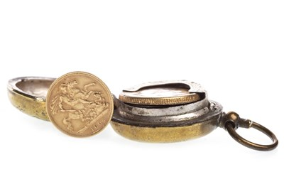 Lot 539-A GOLD HALF SOVEREIGN AND A SOVEREIGN CASE