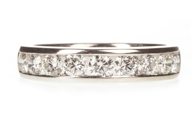 Lot 9-A DIAMOND HALF ETERNITY RING