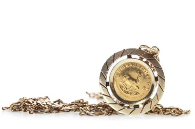 Lot 540-1/10 OZ KRUGERRAND IN PENDANT ON CHAIN