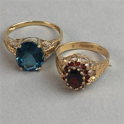 Lot 5-TWO GOLD DRESS RINGS