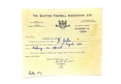 Lot 53-A LOT OF FOUR SCOTTISH FOOTBALL ASSOCIATION LTD. CAUTIONS
