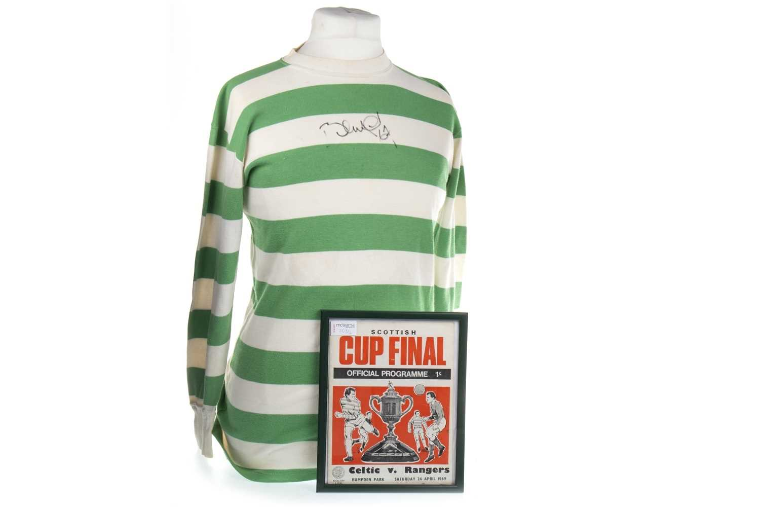 Lot 2031-A CELTIC F.C. JERSEY WORN BY BERTIE AULD DURING THE 1969 SCOTTISH CUP FINAL