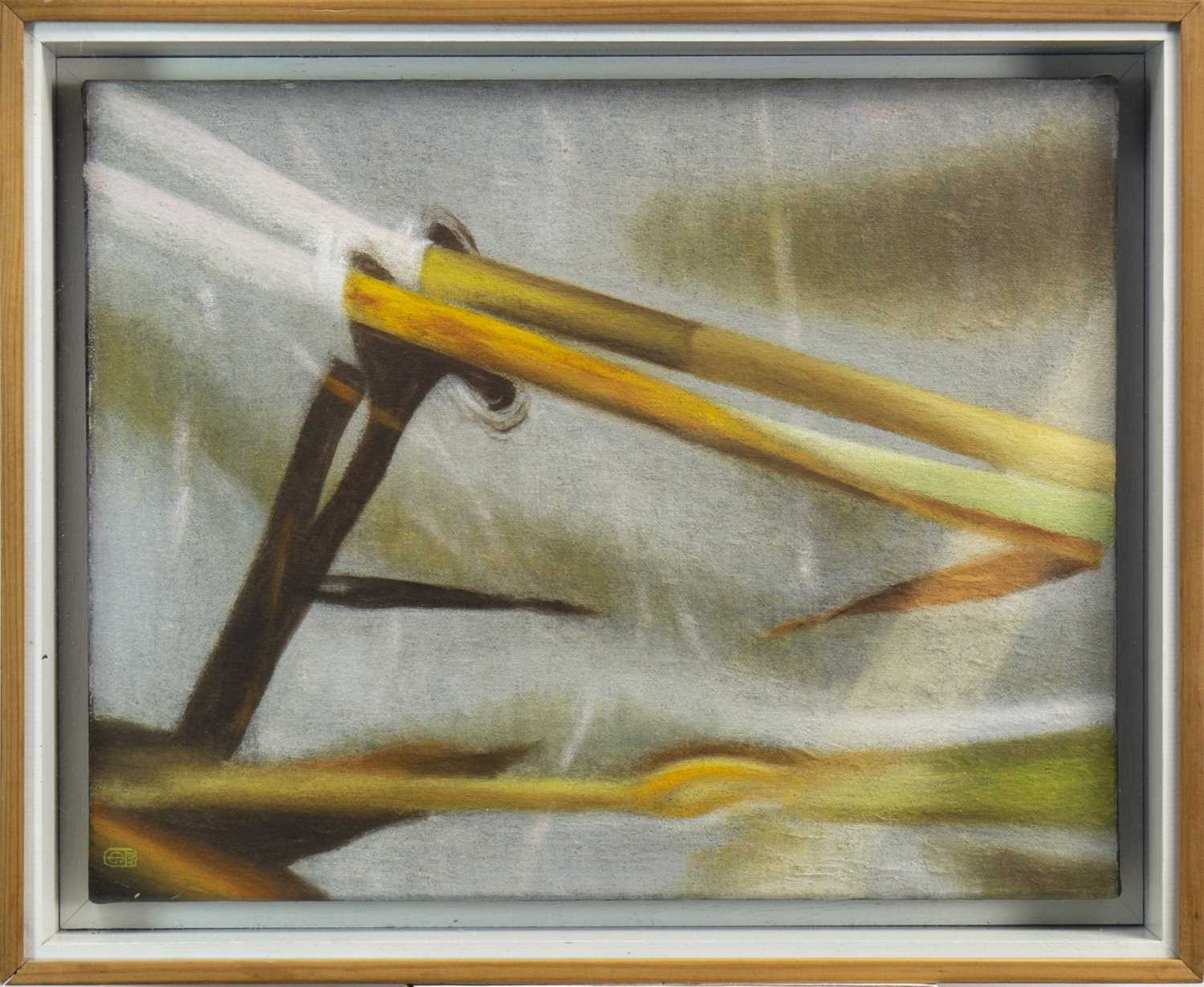 Lot 505-REEDS AND REFLECTIONS, AN OIL BY TIM GOULDING