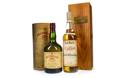 Lot 437-REDBREAST 12 YEARS OLD AND LOCKE'S