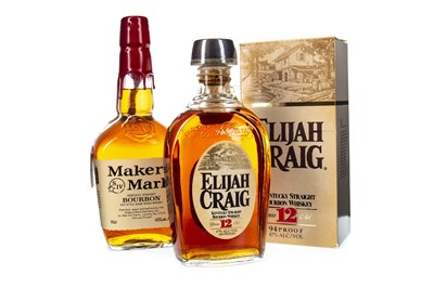 Lot 440-ELIJAH CRAIG 12 YEARS OLD AND MAKERS MARK