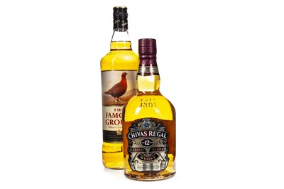 Lot 442-CHIVAS REGAL AGED 12 YEARS AND FAMOUS GROUSE ONE LITRE
