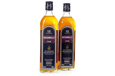 Lot 443-TWO BOTTLES OF BUSHMILL'S MILLENNIUM RESERVE 12 YEARS OLD