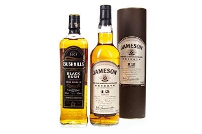 Lot 445-JAMESON 12 YEARS OLD AND BUSHMILLS BLACK BUSH