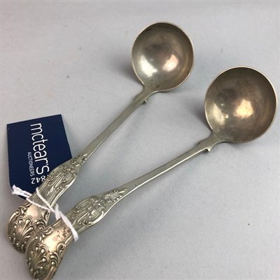 Lot 13-A SET OF ELEVEN SILVER TEASPOONS AND OTHER SILVER AND SILVER PLATED ITEMS