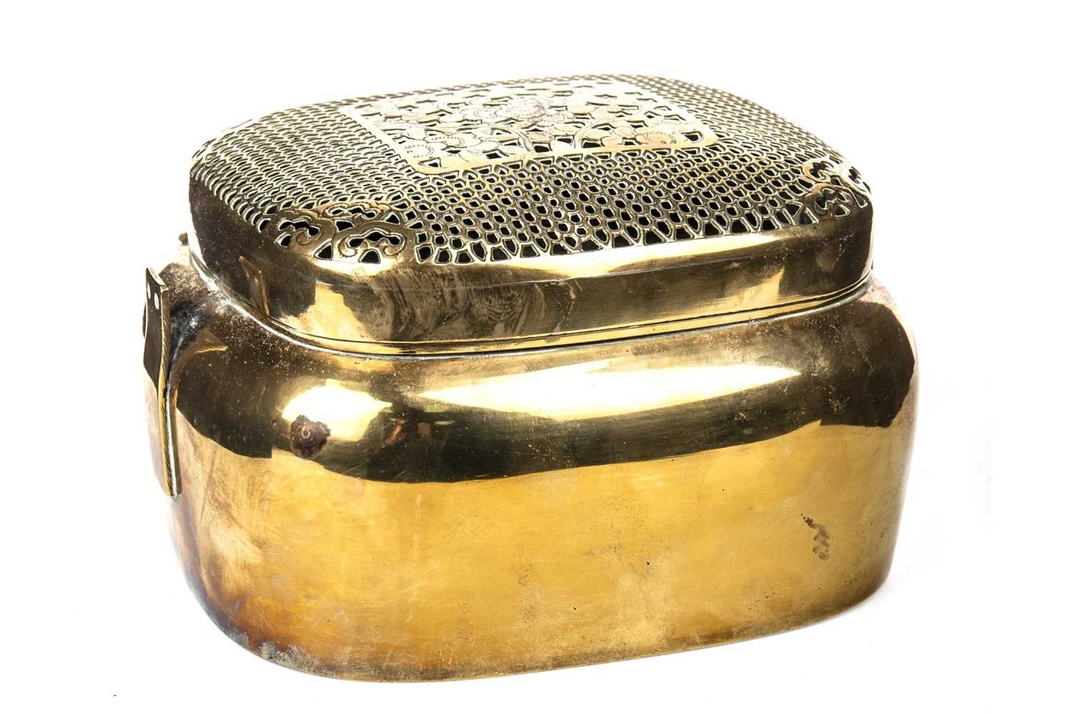 Lot 1024-A CHINESE BRASS HAND WARMER