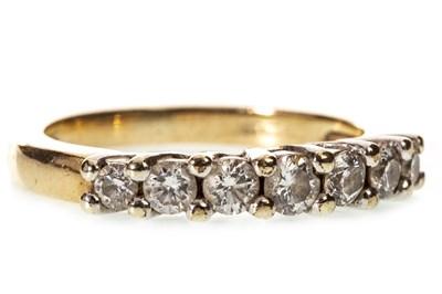 Lot 21-A DIAMOND HALF ETERNITY RING