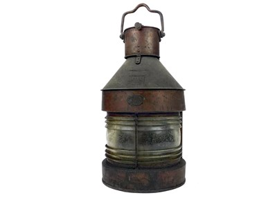 Lot 805-A SHIPS COPPER MASTHEAD LAMP BY HARVIE