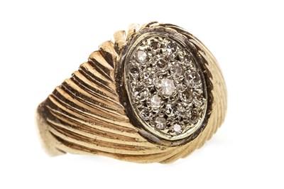 Lot 50-A DIAMOND SET SIGNET RING