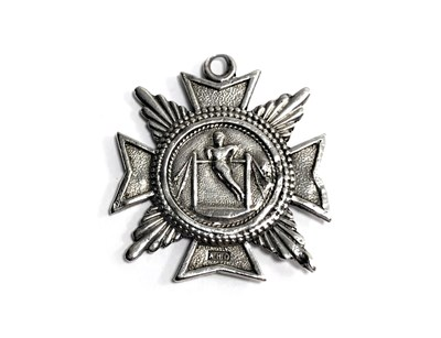 Lot 1912A-A LATE 19TH/EARLY 20TH CENTURY SILVER ATHLETICS MEDAL