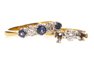 Lot 10-TWO DIAMOND DRESS RINGS