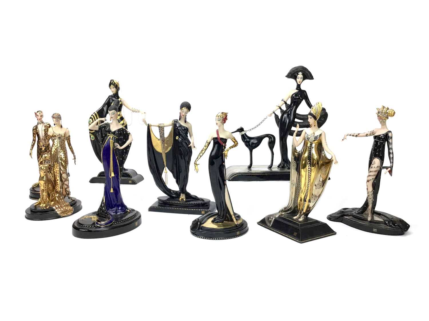 Lot 1207-A GROUP OF FRANKLIN MINT CERAMIC FIGURES OF LADIES