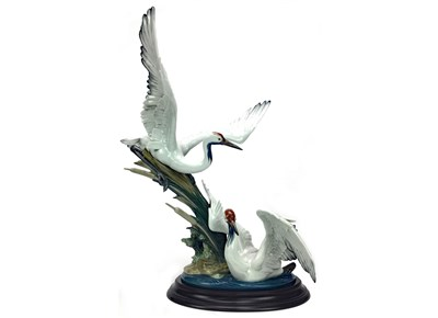 Lot 1206-A LADDRO FIGURE GROUP OF CRANES