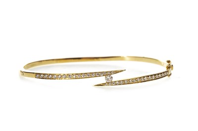 Lot 34-A DIAMOND SET BANGLE