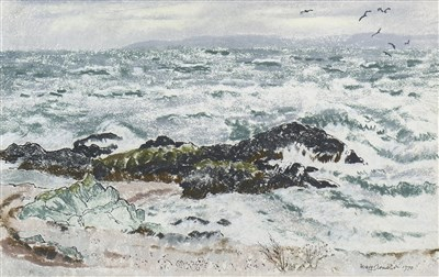 Lot 608-KILBRANN ON SOUND, BLACKWATERFOOT, A PASTEL BY MARY ARMOUR