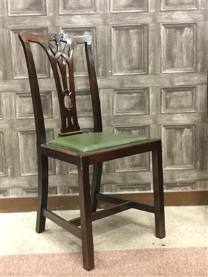 Lot 820-A SET OF TWELVE MAHOGANY DINING CHAIRS