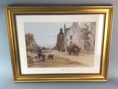 Lot 15-BUSY RURAL VILLAGE, A GICLEE PRINT AFTER ERNEST ARTHUR WATERLOW