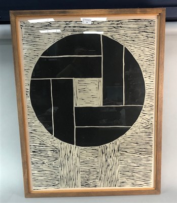 Lot 26-AN ABSTRACT PRINT