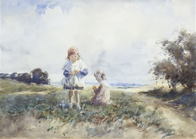 Lot 607-A SUMMER'S DAY, A WATERCOLOUR BY TOM PATERSON
