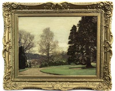Lot 443-CUIL HOUSE, LOCH FYNE, AN OIL BY GEORGE HOUSTON