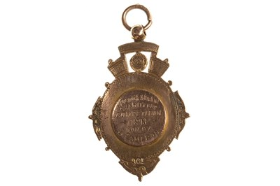 Lot 1802-A GREENOCK & DISTRICT CHARITY CUP GOLD MEDAL 1893