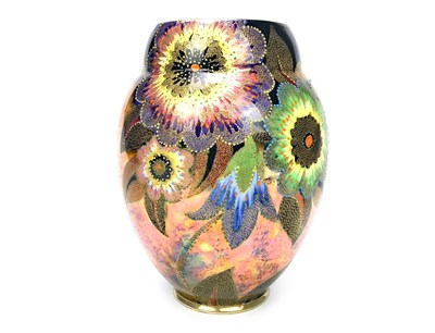 Lot 1226-A CARLTON WARE 'PALM BLOSSOM' PATTERN VASE