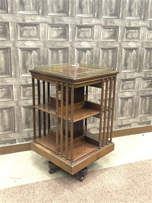 Lot 826-A MAPLE & CO. MAHOGANY REVOLVING BOOKCASE