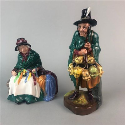 Lot 18-ROYAL DOULTON FIGURES OF THE 'MASK SELLER' AND 'SILKS AND RIBBONS'
