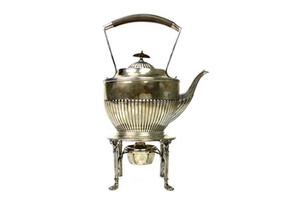 Lot 817-A VICTORIAN SILVER KETTLE WITH STAND AND WARMER