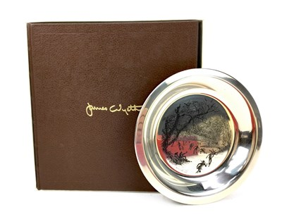 Lot 839 - A LOT OF TWO LIMITED EDITION SILVER CIRCULAR PLATES AFTER JAMES WYETH